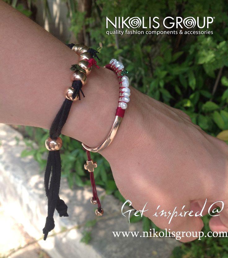 we love our rose gold bracelets! order the materials @ www.nikolisgroup.com
