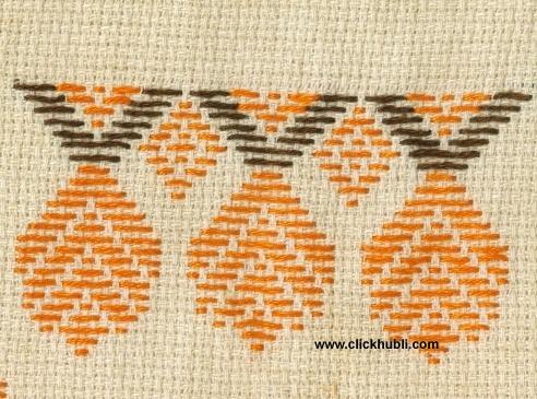Kasuti - Border 40 - Neygli Stitch