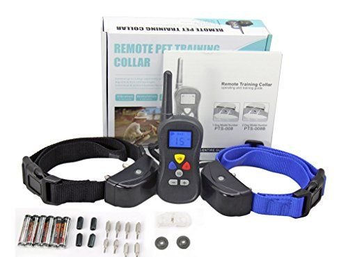 Bark Control Collar 330 Yards Remote Waterproof Shock Collar for Bark DogsShockVibrationToneObedience Electric Training Collar for 2 Dogs * See this great product.Note:It is affiliate link to Amazon.