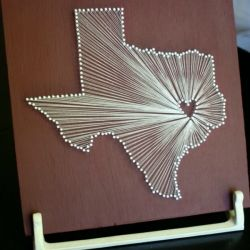 Cool Crafts: Projects, Heart, Diy Crafts, Cute Ideas, Texas, String Art, Nails, U.S. States, Stringart