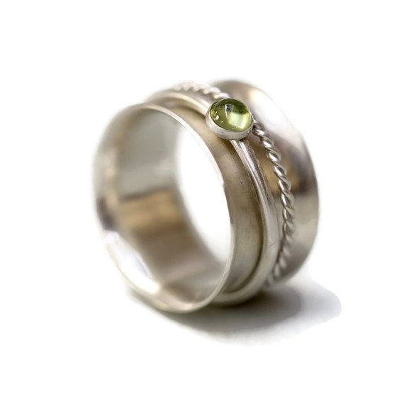 Sterling Silver Ring Spinner Ring Silver Ring by RebeccaCordingley