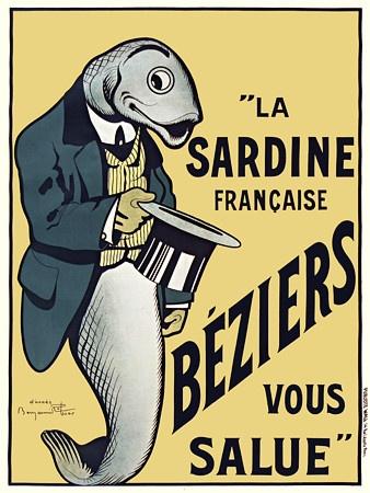 Béziers Sardines, by Benjamin Rabier                                                                                                                                                                                 Plus