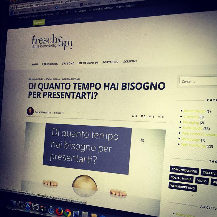 Personal branding, leggi l'articolo su www.frescheidee.com