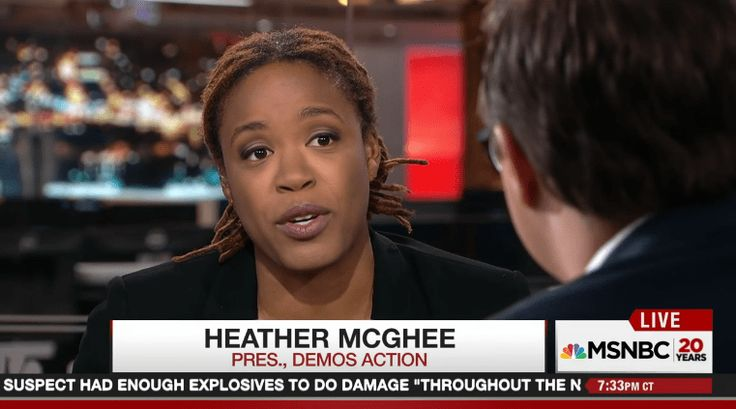 "On last night's edition of ""All in with Chris Hayes,"" Heather McGhee, president of Demos Action, discussed the recent killings of Alton Sterling and Philando Castile in the wake of the Dallas shooting that claimed five police officers' lives. In the clip, McGhee says Black people and the nation are capable of grieving for the …"