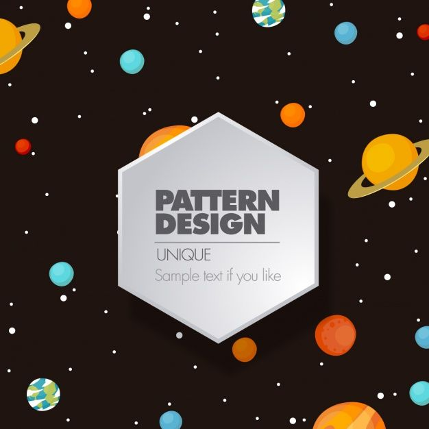 Space pattern design Free Vector