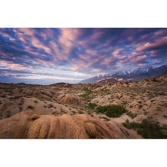 Mount Whitney Sunrise Nature Photo Print Fine by LightOfTheWild