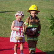 DIY Outdoor Wedding Decorations | eHow. little firefighter for ring bearer- Ethan! I just realised that I need a flower girl...Charlotte?