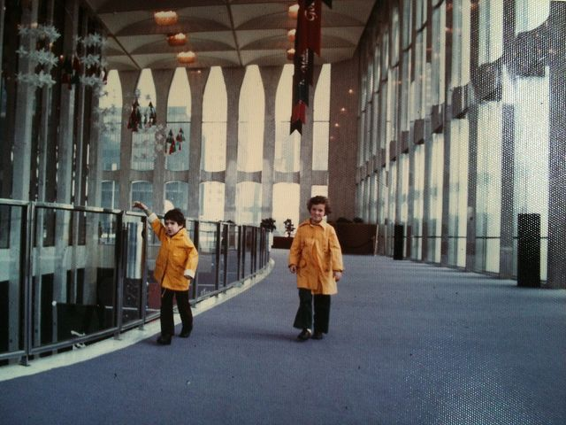 Inside the World Trade Center (Christmas, 1975) by TheNickster, via Flickr