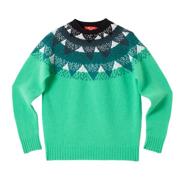 Mountain Peak Sweater - Jade - Donna Wilson