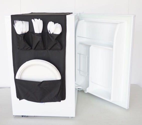 Cookin Caddy - Over the Fridge Storage Organizer Dorm Essentials