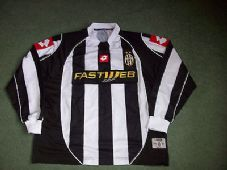 2002 2003 Juventus L/s Home Football Shirt Adults Large Italy Maglia Long sleeve