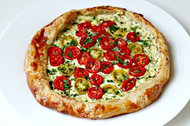 Ricotta and Tomato Tart | yummy | Pinterest
