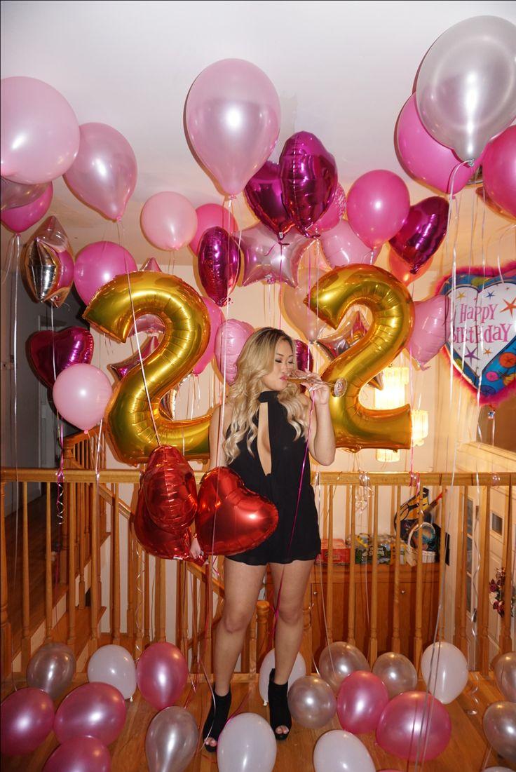 22nd birthday | Birthday balloons | Number balloons |Birthday photoshoot