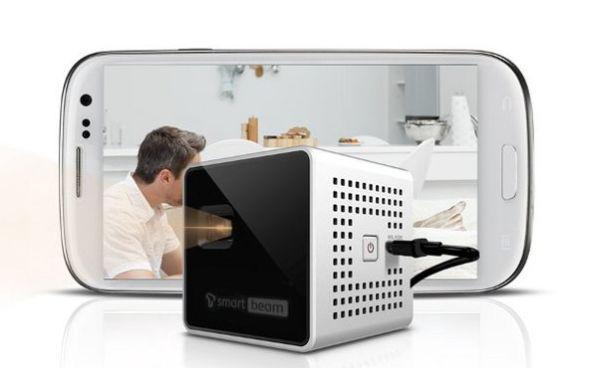 SK Telecom Smart Beam cube-shaped pico projector, simply amazing!