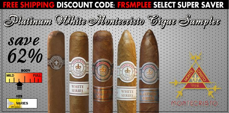 Platinum White Montecristo Cigar Sampler