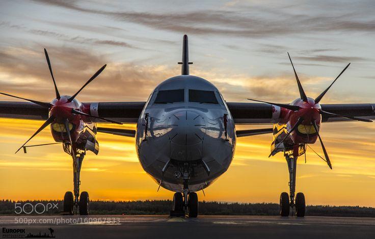 Fokker 50 Sunset Sweden by europix