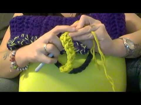 Bordo o-bag tutorial fai da te uncinetto - YouTube