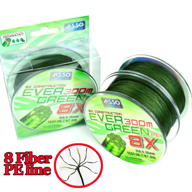 300m Durable PE Braided Fishing Lines Braided Line linha Multifilament Carp Bass Braid Fishing Wire Super Strong pesca