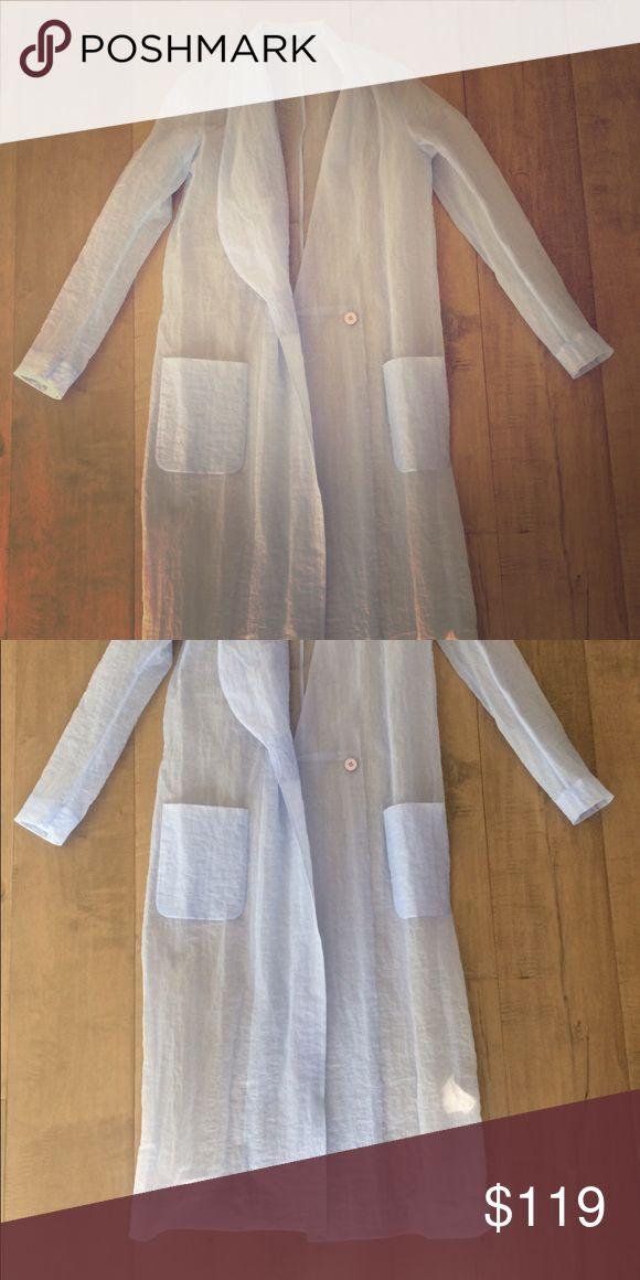 Cos fashion coat Blue transparent coat cos Jackets & Coats Trench Coats