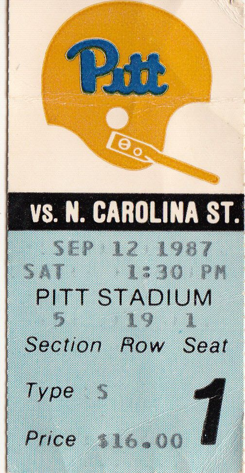 1987 pitt #Football ticket stubs - all 6 home games -notre dame penn state etc from $35.99