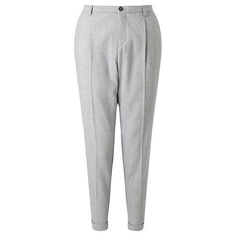 Buy BOSS Orange Sacupra Flannel Relaxed Trousers, Grey Online at johnlewis.com