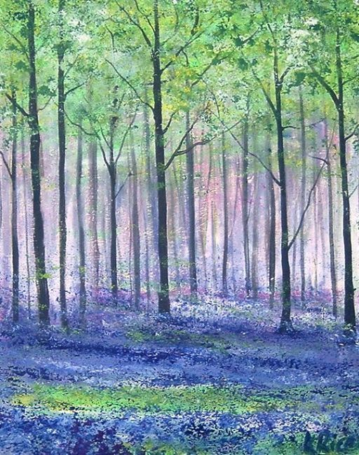 bluebell wood england | This piece is part of my Bluebell Woods Series of Works.It has been ...