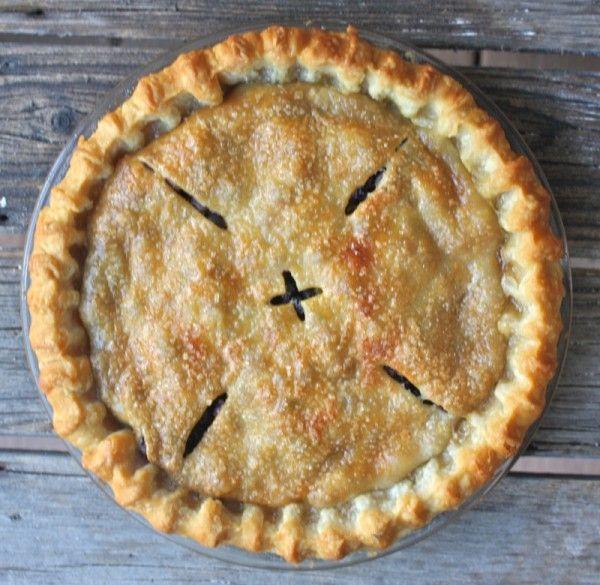 Traditional Canadian Prairie Wild Saskatoon Berry Pie