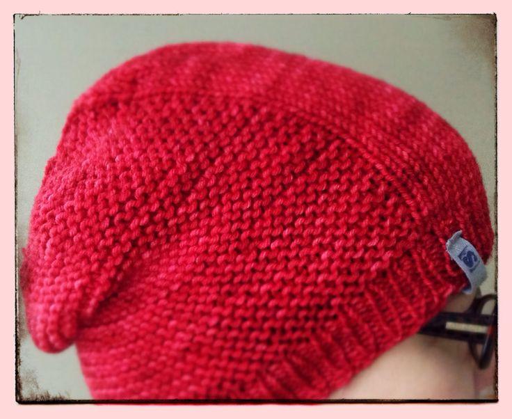 Barley hat, yarn by Malabrigo.