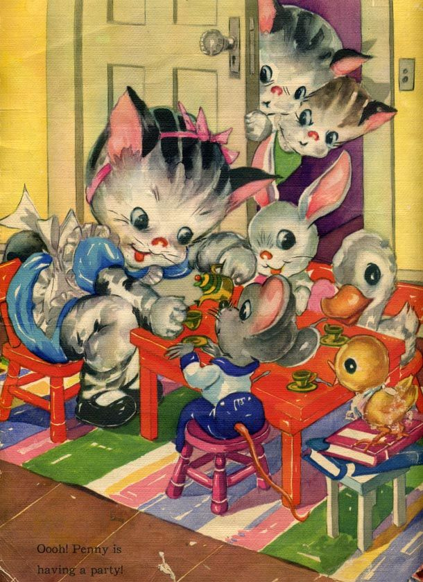 Ruth Newton - Party Time! Vintage Books and Illustrators: Ruth Newton born March 6, 1884. The use of color = beautiful! One of my fave art illustrators