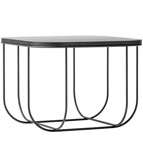 FUWL Cage table, black/dark ash, by Menu. Designed by Form Us With Love.