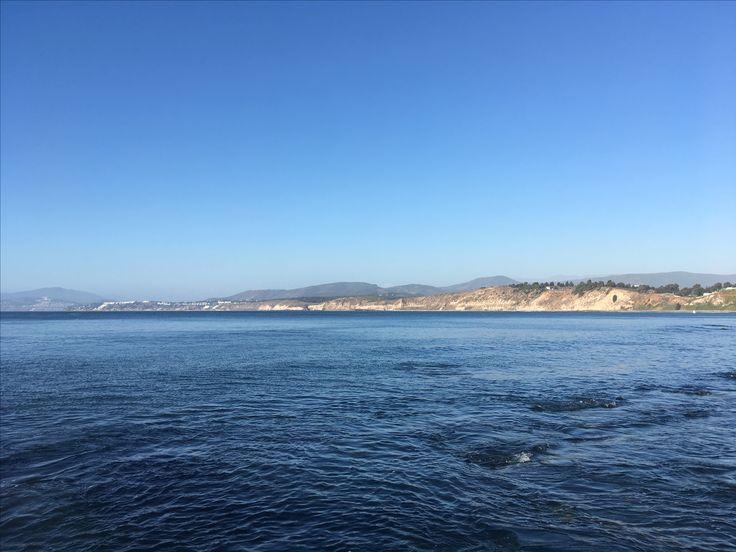 Vista a Maitencillo desde Horcón Playas Costa región de Valparaíso Chile