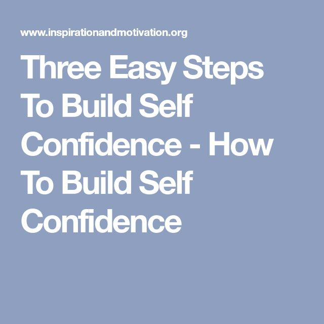 how to build self confidence men