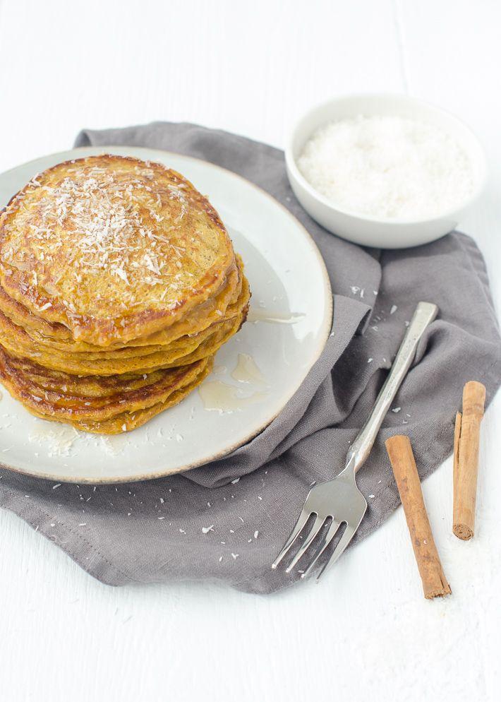 Pompoen kokospannenkoekjes #pumpkin pancakes