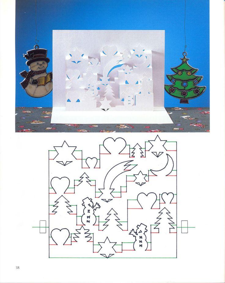 Объемные открытки своими руками шаблоны к новому году 2016, открытки детские пнг