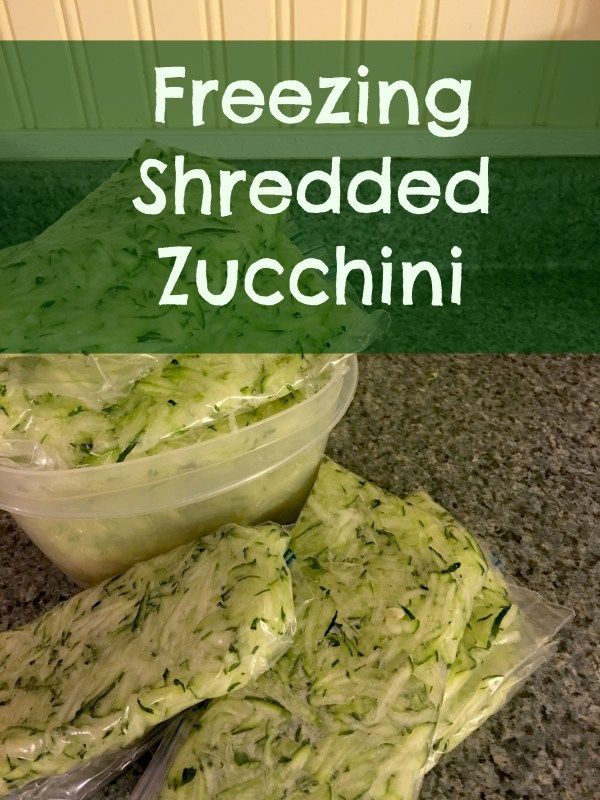Freezing Shredded Zucchini -- If you have ever grown zucchini you know that even one plant can yield pounds and pounds of harvest.  There is only so much zucchini my family will eat, so I like to shred & freeze a lot of it so we can enjoy the summer goodness all year.