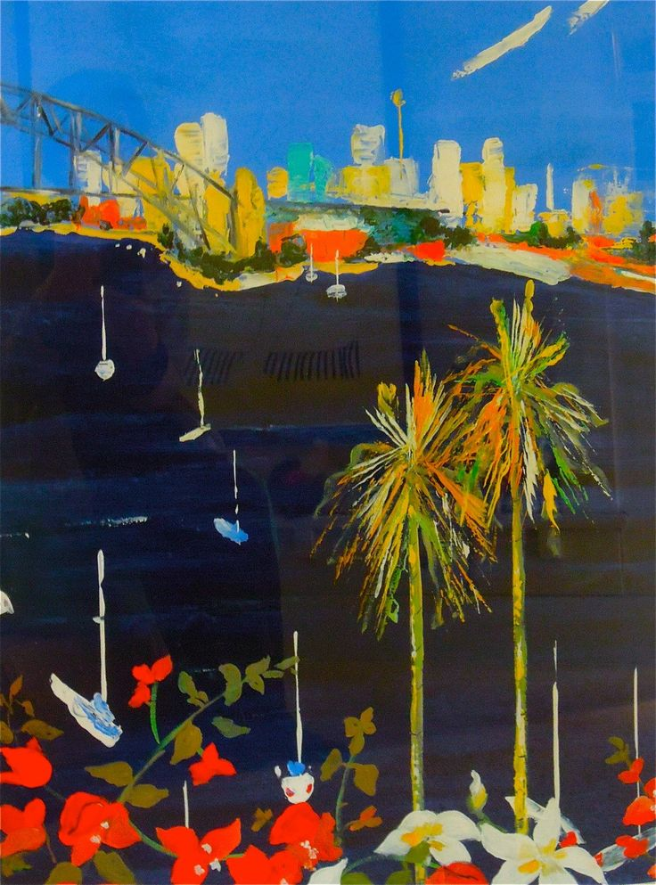 Lavender Bay – Acrylic on paper PLATFORMstore