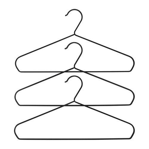 IKEA - STRYKIS, Kleiderbügel, Die gerundete Form und der samtartige Bezug der…