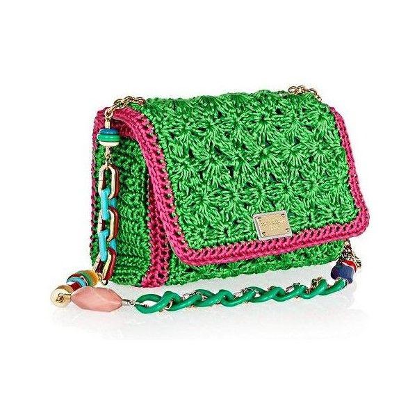 Dolce Gabbana Crocheted Shoulder Bag .. fashionfuss.com