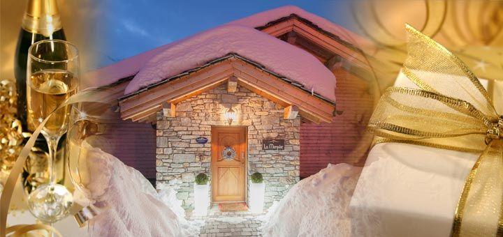 New Year ski holidays in festive Sainte Foy.