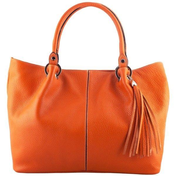 Amber Orange Leather Handbag ❤ liked on Polyvore featuring bags, handbags, orange purse, real leather purses, real leather bag, genuine leather bag and genuine leather handbags