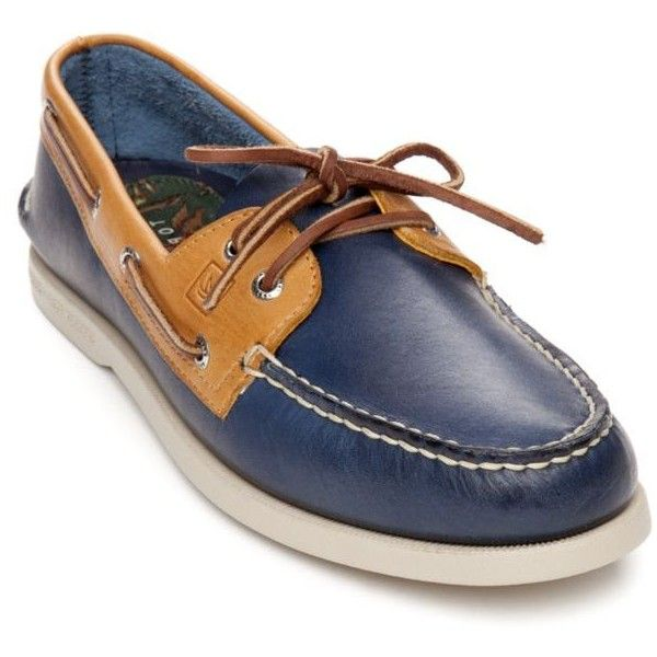 Sperry Bluegold Ao Two Tone Shoe - Male ($80) ❤ liked on Polyvore featuring men's fashion and men's shoes