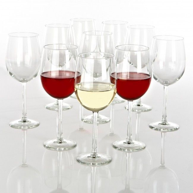 Enhanced quality stemware for red and white wines.