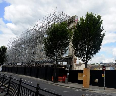 All that's left of the Co-Op in London Road as new build goes in behind the facade. Gone forever is the place where Santa gave me a gun... /via the Evening Argus