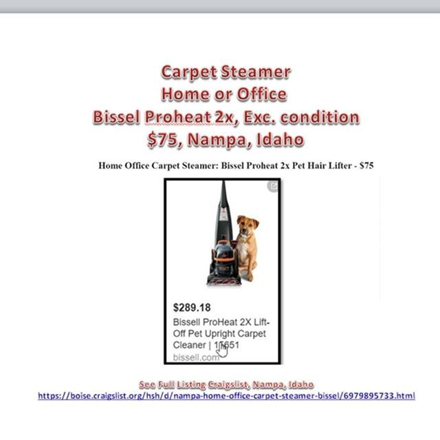 Carpet Steamer For Home Or Office Picks Up All Pet Hair Heats Water See The Pix For Link And Full Info