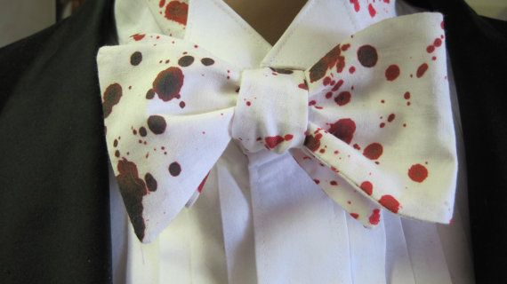 Blood Splatter Specialist Bow Tie by Cloutseu on Etsy, $20.00