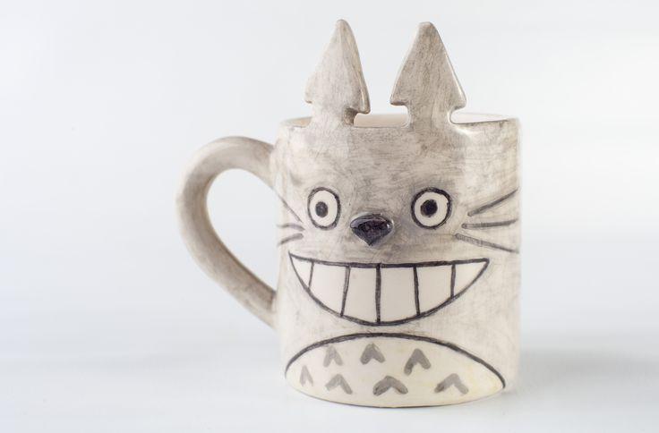 www.astralobjetos.com Taza jarro de Totoro.. Ceramica hecha a mano - Handmade ceramic