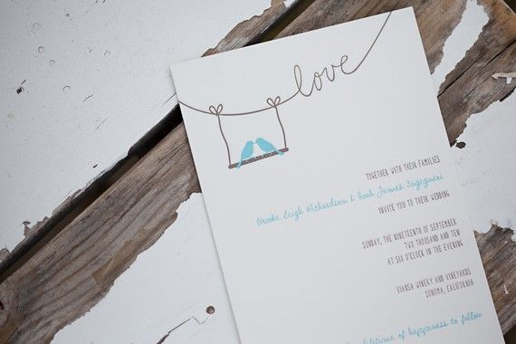 Sample Letterpress Wedding Invitations and Reply Cards