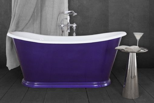 Caravel Bateau Cast Iron Bath Amethyst