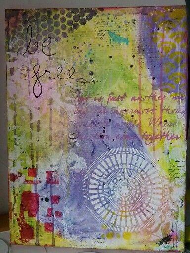 Taller canvas mix media amb Sonia Alcaraz, molt guai!