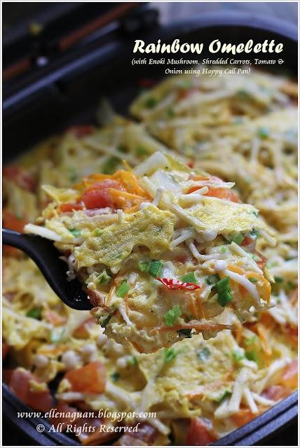 Rainbow Omelette using Happy Call Pan @Ellena   Cuisine Paradise